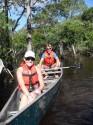 Canoeing through the waterways