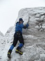 17. Pete up ice wall