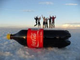 76. Group jumping with coke