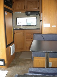 Back half of the our RV including kitchen