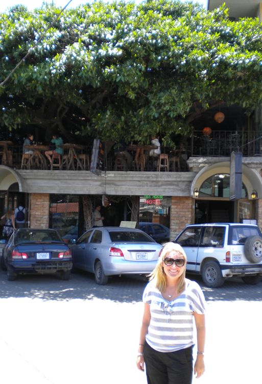 Lis in main street of Monteverde outside tree-top restaurant