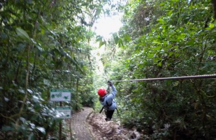 Zip lining through the rainforest is WICKED fun....