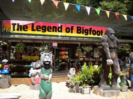 Of course this wasn't the only shop where you can buy Bigfoot paraphernalia