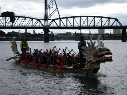 Dragon Boat Race and Training on the river.