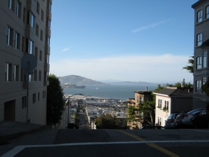 Some of the streets of San Fran seem like cliffs especially driving them in a RV.