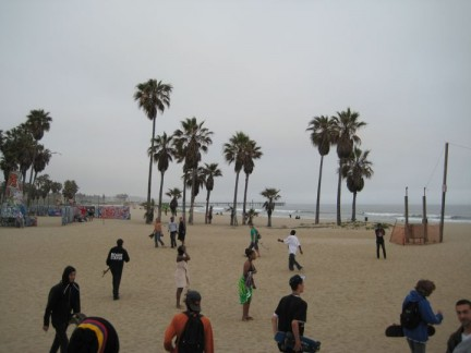 Plenty of action down at Venice Beach