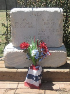 Billy the Kid's Gravesite. PALS inscribed on it.