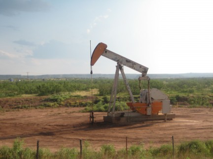 We saw quite a few of these oil rigs pumping throughout the state.