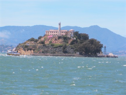 Alcatraz is located in the middle of San Francisco Bay