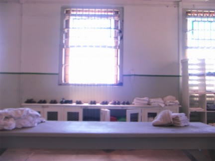 The Laundry and uniform distribution area.