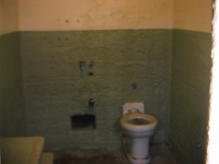 A typical prison cell. Homely heh?