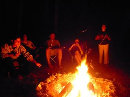 Smoares and Irish Car Bombs around the campfire...