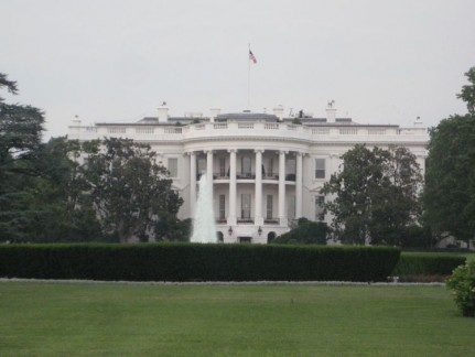 The Whitehouse is amazingly assessable (at least to the gate anyway)! Barack wasn