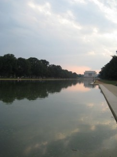 The Reflecting Pool, made extra famous by the scene in Forest Gump, with Jeynny!!