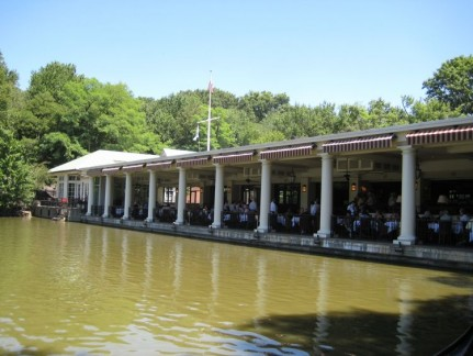 The Boat House Restaurant in Central Park offers a great view.