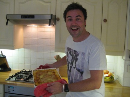 """Andrew """"VC"""" Bailey sure can cook a mean Cottage Pie. Thanks to Bails and Alice and especially Prue for allowing us to stay in Chateau de Holland Park"""