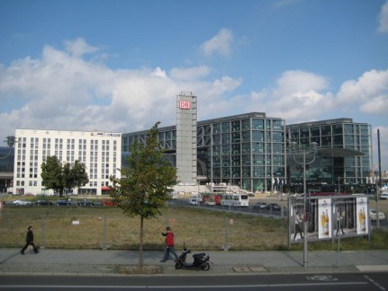 Near an old looking city of Berlin (although a lot of which was repaired to look original after the war) is this modern and massive building called Berlin Central Train Station. It was built for the World Cup 2006.
