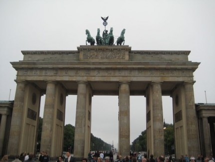 The first photo was always going to be one of the Brandenburg Gates