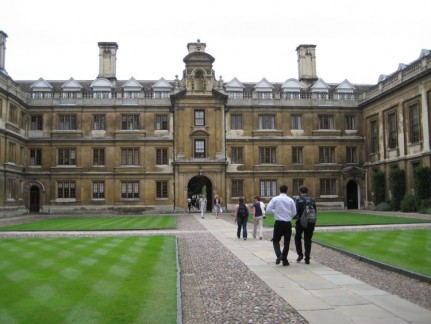 One of the many beautiful buildings at Cambridge University. The town of Cambridge was built around the the University.
