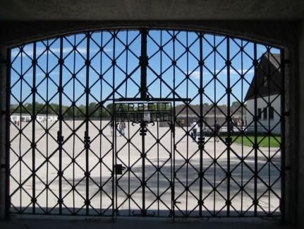 Dachau front entrance. The German propaganda was that Dachau CC was a rehabilitation facility.