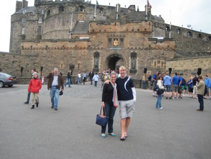 Us out the front of Edinburgh Castle. Very popular to visit but pretty cool as far as Castles go...
