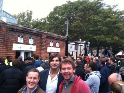 About to enter Craven Cottage for Fulham vs Tottenham. With Walshy, Stonka and Springa