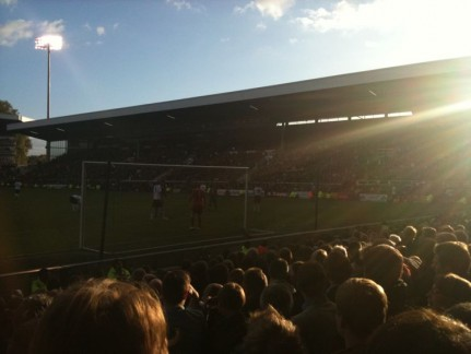 The crowd for Fulham versus Tottenham
