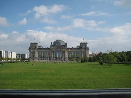 The Reichstag is the centre of the Parliamentary quarter. The dome you can see on the top is where you can climb to.