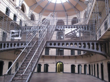 Familar? Inside Kilmanhaim Gaol - this is where the riot was filmed in 'In the Name of the Father'
