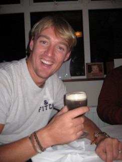 Pete's first Irish Coffee - creamy, delicious and STRONG!