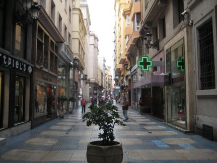 The shopping strip of Santander