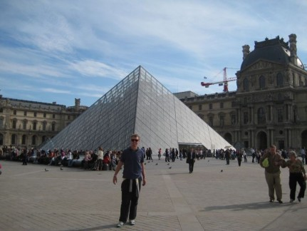 The Louvre is more than just this glass pyramid, its everything around it as we discovered. Entrance: 9.50euro pp.