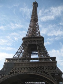 The Eiffel Tower is Paris's, in fact Frances most iconic land mark. It can be climbed but only to the second level and then you have to get an elevator.