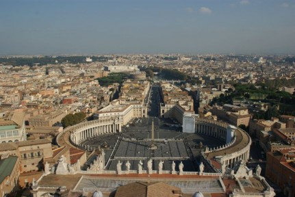 The fantastic view of Rome from St Peter