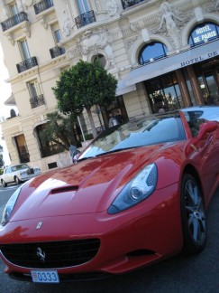 Cars like this line the streets of Monte Carlo, Monaco