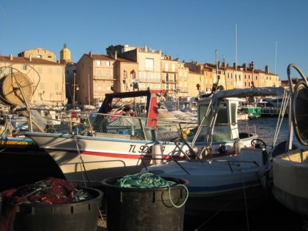 The beautiful seaside town of St Tropez