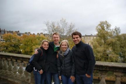 Lis, Pete, Sarah & Bart in Bath