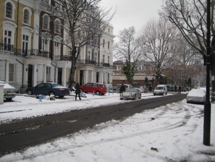 The coldest winter in 70 years hits London....