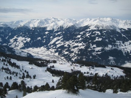 The stunning view looking down on the valley where Zell am Ziller lies.