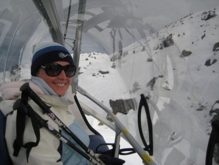 How good is this chair lift? Covered and comfortable...