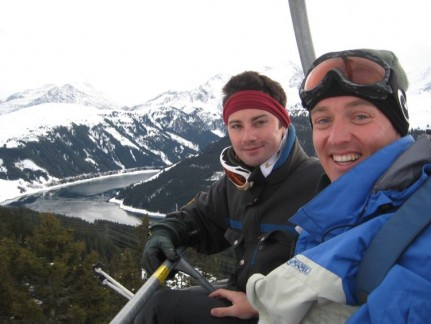Dan and Pete on their way to one of the best views in Zell am Ziller