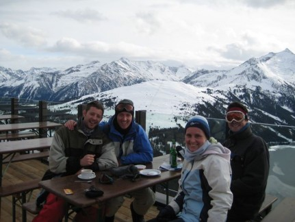 A hot chocolate break was always appreciated while enjoying the view...