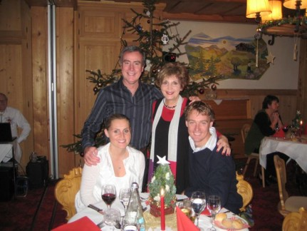 Sitting down to Christmas Eve dinner at Hotel Baren