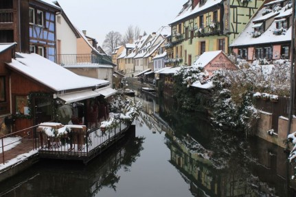A beautiful canal running through Colmar