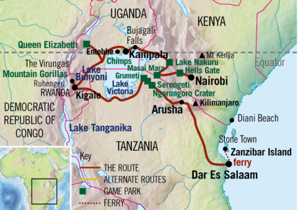 We initially chose Absolute Africa because this route. They were the only truck that drove through below Lake Victoria through Tanzania.
