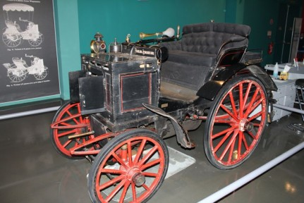 This museum has hundreds of cars starting with cars like this that among the first cars ever built...
