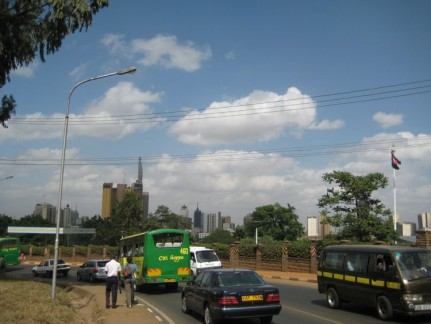 Matatu is the Black Van with yellow trim and the City Hopper bus.
