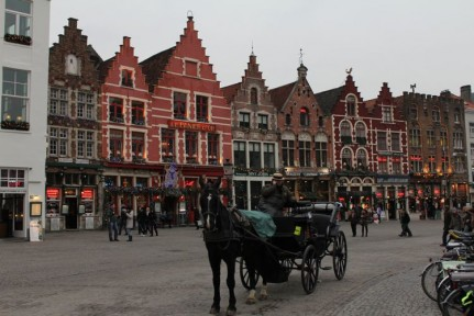 The heart of Brugge old town