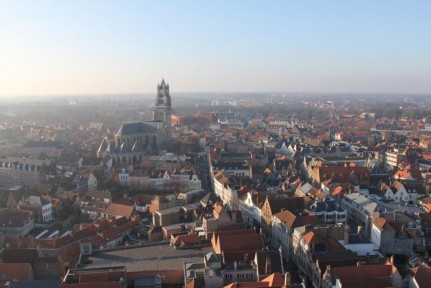 Brugge from above (nice view from the Belfast Tower)