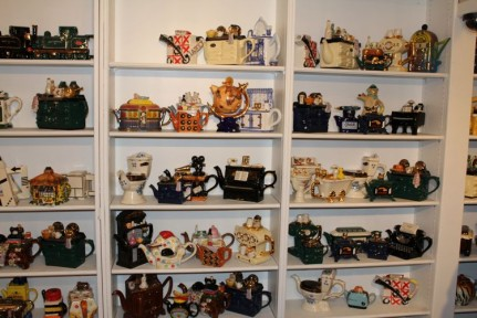 Teapots resembling just about anything you can think of.